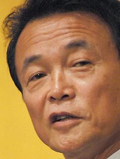 9日、自民党総裁選に出馬する意向を表明した麻生太郎外相。(撮影:徳永裕介)