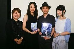 作品の力が豪華声優を集めた! (左から)福島央俐音、田中敦子、栗栖直也監督、石黒千尋