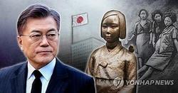 文大統領(左)と慰安婦問題(イメージ)=(聯合ニュース)