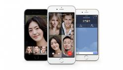 「グループビデオ通話機能」のイメージ(LINEの発表資料より)