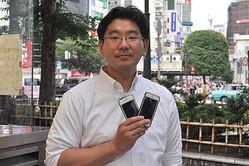 「もう4年前からiPhoneに格安SIMを差してますよ」と語る神原さん
