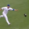 カブスのレスター投手 ボールの挟まったグローブを投げアウト取る