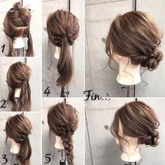 簡単ヘアアレンジ☆「くるりんぱ」をマスターして普段も結婚式も髪おしゃれ♡