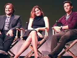 ジャック・ブラック、キャスリン・ハーン、ジェームズ・マースデン(左から)