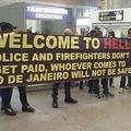 リオ五輪の開催目前 ブラジルの空港に掲げられたメッセージが話題