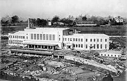 1931年11月29日、完成間近の上野駅舎。翌年4月に竣工し、開業した(日本電報通信社撮影) (C)共同通信社