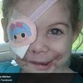 ピットブル3頭に噛まれ眼球を失った3歳女児 (画像はclarionledger.comのスクリーンショット)