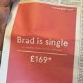 「ブラピが独身に…」離婚に便乗した、航空会社のLA行きチケット広告が秀逸