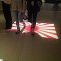 豪州の戦争記念館で、「踏みつけ」にされる旭日旗の映像。和田政宗参院議員のフェイスブックページより