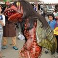 ガジロウの姿に子供が号泣(福崎町提供、17年4月8日撮影)