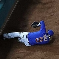 スライディング捕球するバエズ【写真:Getty Images】
