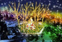 東急プラザ表参道原宿で「ホワイトクリスマス」11月からイルミネーション