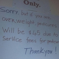 肥満客のペディキュアに追加料金を求めるネイルサロン ネットで炎上状態