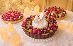 キルフェボンのXmasケーキ2015、フルーツをたっぷり飾った3種類用意。