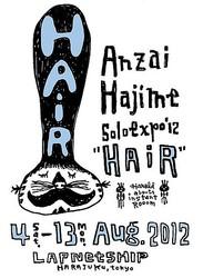 ソラミミスト安齋肇の個展 2012年のテーマは「HAiR」