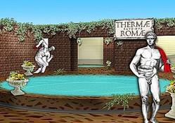 """あの人気漫画の""""古代ローマ風呂""""が現実のものに!/(c)2009 Mari Yamazaki/PUBLISHED BY ENTERBRAIN, INC."""