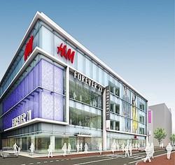 福岡ファストファッションビルにH&MとFOREVER 21同時オープン