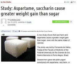 人工甘味料の摂取 砂糖よりも太りやすいことが明らかに