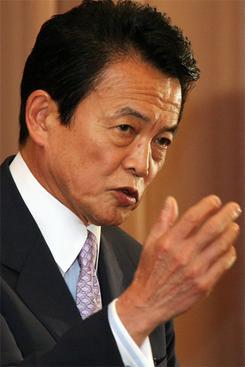20日、OECD東京政策フォーラムで基調講演する麻生太郎外務大臣(撮影:吉川忠行)
