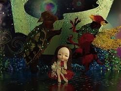 清川あさみ流「不思議の国のアリス」銀座で絵本原画展