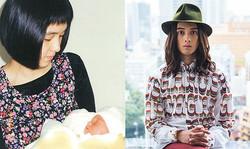 (左)母・泉さんが類さんを出産したときの写真。「僕には感覚過敏があり、保育園の子どもたちの歌声を聴くだけで逃げ出したくなるような症状がありました。忘れ物も多く、強いこだわりもあったので、母の子育ては大変だったと思います」(右)モデル・タレント 栗原 類さん