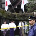 事件現場付近の防犯カメラに不審な男が映っていた(写真:AP/アフロ)