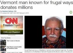 超節約家の男性、数億円を寄付(画像はedition.cnn.comのスクリーンショット)