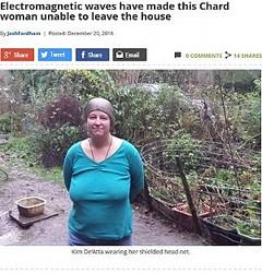 Wi-Fiアレルギーにより体調を崩した女性(出典:http://www.somersetlive.co.uk)