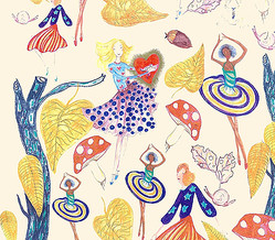 ツモリチサト原画展「ツモリの森」神宮前の隠れ家ギャラリーで開催