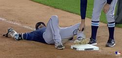 メジャーリーグ試合中に凶暴なハトが選手の顔面を奇襲する衝撃映像!