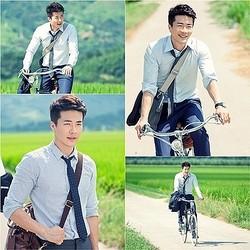 クォン・サンウ、長閑な田舎道をサイクリング? 新ドラマ『メディカルトップチーム』