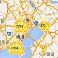 住人が亡くなったなどの事故物件を地図上に表示するサイト「大島てる」