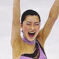 女子ショートプログラム。62・67点を出し、日本人トップの2位につけた。 (photo by PHOTO KISHIMOTO) [2012年03月29日、ジャン・ブワン・スポーツパレス/ニース/フランス]