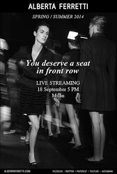 【生中継】2014年春夏ミラノファッションウィーク開幕 アルベルタ・フェレッティがライブ配信