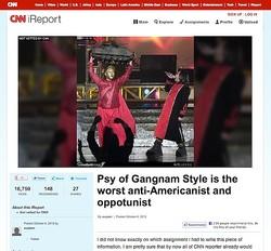 CNN系メディアが「PSYは最悪の反米主義者」と報道 江南スタイルの人気に赤信号か