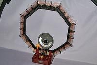 完成した「鉱石ラジオ」