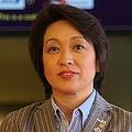 12年のロンドン五輪では日本選手団の副団長を務めた(12年7月、成田空港で)