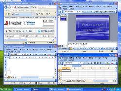 通常の操作だけで画面上のウィンドウをみんなきれいに並べることができる