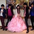 初日舞台挨拶をした『聖闘士星矢』の声優たち (画像は『twitter.com/ono_kensho』のスクリーンショット)