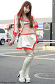 甲子園球場の売り子さんだった池田愛恵里は、レースクイーンやグラビアアイドルに転身した