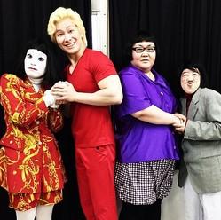 メイプル超合金&日本エレキテル連合(出典:https://www.instagram.com/kazlaser)