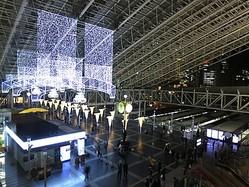 大阪ステーションシティでイルミネーション点灯