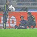 負傷した野津田に代わってピッチに入った柴崎(写真)も、怪我で交代を余儀なくされた。 写真:小倉直樹(サッカーダイジェスト写真部)