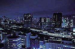 品川駅から田町駅方面一帯が見渡せる眺望