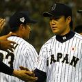 日米野球第3戦では、MLB打線を5回パーフェクトに封じ込めた則本昂大 [Getty Images]
