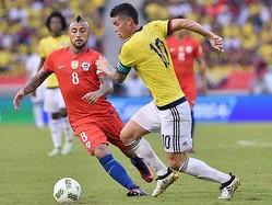 コロンビア、ホームで勝利ならず GKブラボが負傷交代のチリと引き分け