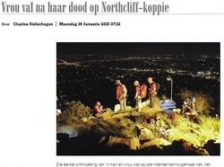 初デートの女性、崖から転落死(画像はnetwerk24.comのスクリーンショット)