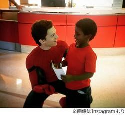 スパイダーマン役のトム・ホランドが病院訪問