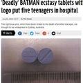 バットマン印の粗悪な合成麻薬MDMAが出回る(画像はmirror.co.ukのスクリーンショット)