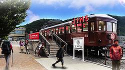 富士登山の玄関口 河口湖駅にジンズが夏季限定出店
